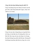 Công viên hóa thạch khủng long lớn nhất TG