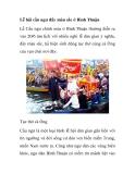 Lễ hội cầu ngư đầy màu sắc ở Bình Thuận