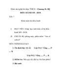 Giáo án nghệ tin học THCS - Chương II: HỆ ĐIỀU HÀNH MS - DOS