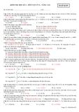 Đề kiểm tra HK1 Lí 12