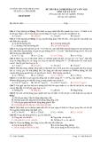 ĐỀ THI TRẮC NGHIỆM HỌC KỲ I (ÔN TẬP) MÔN VẬT LÝ 12 NC -  Mã đề thi 003