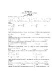 7 Đề thi học kỳ 1 môn Vật lý 12 cơ bản