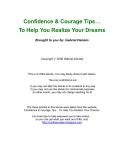 921 Confidence & Courage Tips phần 1