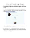 Ghi hình buổi trò chuyện Google+ Hangouts