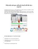 Phần mềm nhỏ gọn, miễn phí chuyển đổi file docx sang doc