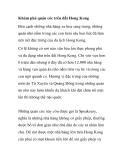 Khám phá quán cóc trên đất Hong Kong