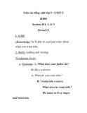 Giáo án tiếng anh lớp 5 - UNIT 3 JOBS Section B(4, 5, 6,7) Period 12
