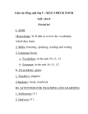 Giáo án tiếng anh lớp 5 - SELF-CHECK FOUR Self- check Period 64