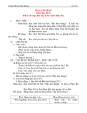 Giáo án âm nhạc lớp 2: Học hát bài: BẮC KIM THANG