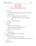 Giáo án âm nhạc lớp 1:  Học hát bài: TÌM BẠN THÂN (tiết 1)