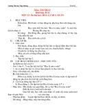 Giáo án âm nhạc lớp 2: Ôn bài hát: HOA LÁ MÙA XUÂN