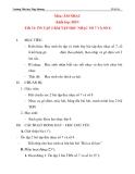 Giáo án âm nhạc lớp 4:  ÔN TẬP 2 BÀI TẬP ĐỌC NHẠC SỐ 7 VÀ SỐ 8