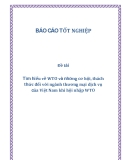 Đề tài: Tìm hiểu về WTO và những cơ hội, thách thức đối với ngành thương mại dịch vụ của Việt Nam khi hội nhập WTO