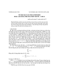 """Báo cáo nghiên cứu khoa học: """"Về một bài toán phân phối điện được giải bằng phương pháp Monte - Carlo"""""""