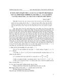 """Báo cáo nghiên cứu khoa học: """"Sử dụng một số kiến thức cơ sở của lý thuyết nhóm khảo sát các tính chất nghiệm của đa thức xn - 1 và vận dụng vào việc khai thác các bài toán ở trường phổ thông"""""""