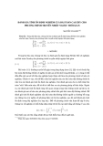 """Báo cáo nghiên cứu khoa học: """"Đánh giá tính ổn định nghiệm cuả bài toán Cauchy cho phương trình truyền nhiệt ngược thời gian"""""""