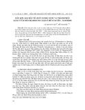"""Báo cáo nghiên cứu khoa học: """", Dẫn liệu ban đầu về chất lượng nước và thành phần loài vi tảo bộ Chlorococcales ở hồ Vị Xuyên - Nam Định"""""""