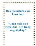 """Báo cáo nghiên cứu khoa học: """"Chăn nuôi bò ở Nghệ An: Hiện trạng và giải pháp"""""""