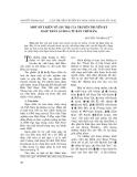 """Báo cáo nghiên cứu khoa học: """"Một số ý kiến về giá trị của truyện truyền kỳ Ngọc thân ảo hoá (từ bản chữ Hán)"""""""