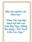 """Báo cáo nghiên cứu khoa học: """"Phan Thị Nga,Độc thoại nội tâm của Lâm Đại Ngọc (Hồng lâu mộng - Tào Tuyết Cần, Cao Ngạc"""""""