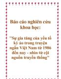 """Báo cáo nghiên cứu khoa học: """"Sự gia tăng của yếu tố kỳ ảo trong truyện ngắn Việt Nam từ 1986 đến nay - nhìn từ cội nguồn truyền thống"""""""
