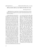 """Báo cáo nghiên cứu khoa học: """"Thể loại song thất lục bát trong Thơ mới (1932 - 1945) """""""