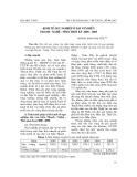 """Báo cáo nghiên cứu khoa học: """"Kinh tế ngư nghiệp ở dải ven biển Thanh - Nghệ - Tĩnh thời kỳ 2000 - 2005"""""""