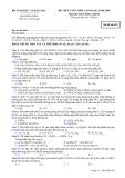 ĐỀ THI TUYỂN SINH CAO ĐẲNG NĂM 2008 Môn thi: SINH HỌC  Mã đề thi 835