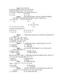 Đề thi trắc nghiệm môn hóa học - 2
