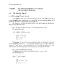Bài giảng quy hoạch toán phần 1