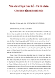 Nhà chí sĩ Ngô Đức Kế - Từ tù nhân Côn Đảo đến một nhà báo