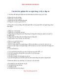 Câu hỏi trắc nghiệm thi vào ngân hàng ( có đáp án )