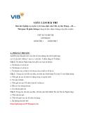 Đề thi giao dịch viên VIB