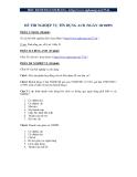 Đề thi tín dụng ACB 10/10/2009