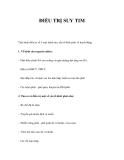 PHƯƠNG PHÁP ĐIỀU TRỊ SUY TIM
