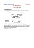 Đồ án bảo dưỡng công nghiệp Hệ thống Servo- Chương 1