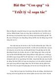 Tài liệu: Bài thơ 'Con quạ' và 'Triết lý về soạn tác'