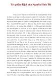 Tác phẩm Kịch của Nguyễn Đình Thi