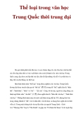 Thể loại trong văn học Trung Quốc thời trung đại