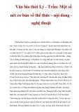 Văn bia thời Lý - Trần: Một số nét cơ bản về thể thức - nội dung nghệ thuật