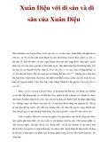 Tài liệu tham khảo: Xuân Diệu với di sản và di sản của Xuân Diệu