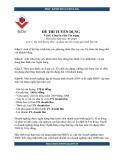 Đề thi tuyển chuyên viên tín dụng BIDV