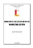 Hướng dẫn trả lời câu hỏi ôn tập môn Marketing cơ bản