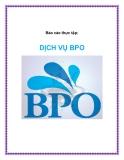 Báo cáo thực tập: DỊCH VỤ BPO