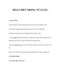 THAI CHẾT TRONG TỬ CUNG