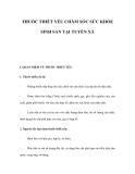 THUỐC THIẾT YẾU CHĂM SÓC SỨC KHỎE SINH SẢN TẠI TUYẾN XÃ