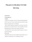 Tổng quan các biện pháp và kỹ thuật khử trùng