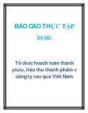 Đề tài: Tổ chức hoạch toán thành phần, tiêu thụ thành phẩm ở công ty rau quả Việt Nam