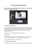 10 cách tăng tuổi thọ pin iPad