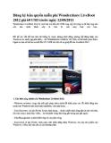 Đăng ký bản quyền miễn phí Wondershare LiveBoot 2012